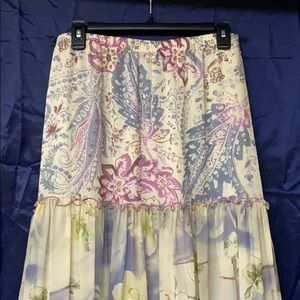 CAbi Watercolor Skirt Size: Small